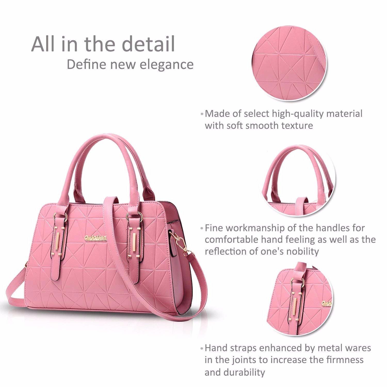Bolso Sra. Messenger Bag Bolso de Hombro Messenger Bag Bolso PU Cuero Gris, Rosa: Amazon.es: Deportes y aire libre
