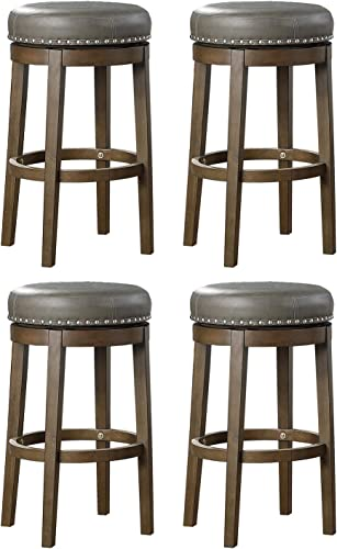 Lexicon Whitby 30.5 Inch Pub Height Round Swivel Seat Bar Stool
