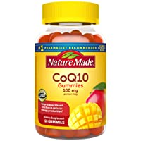 Nature Made CoQ10 100 mg Gummies, 60 Count for Heart Health† (Packaging May Vary)