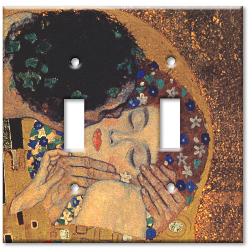 Art Plates - Klimt: The Kiss II Switch Plate - Double Toggle