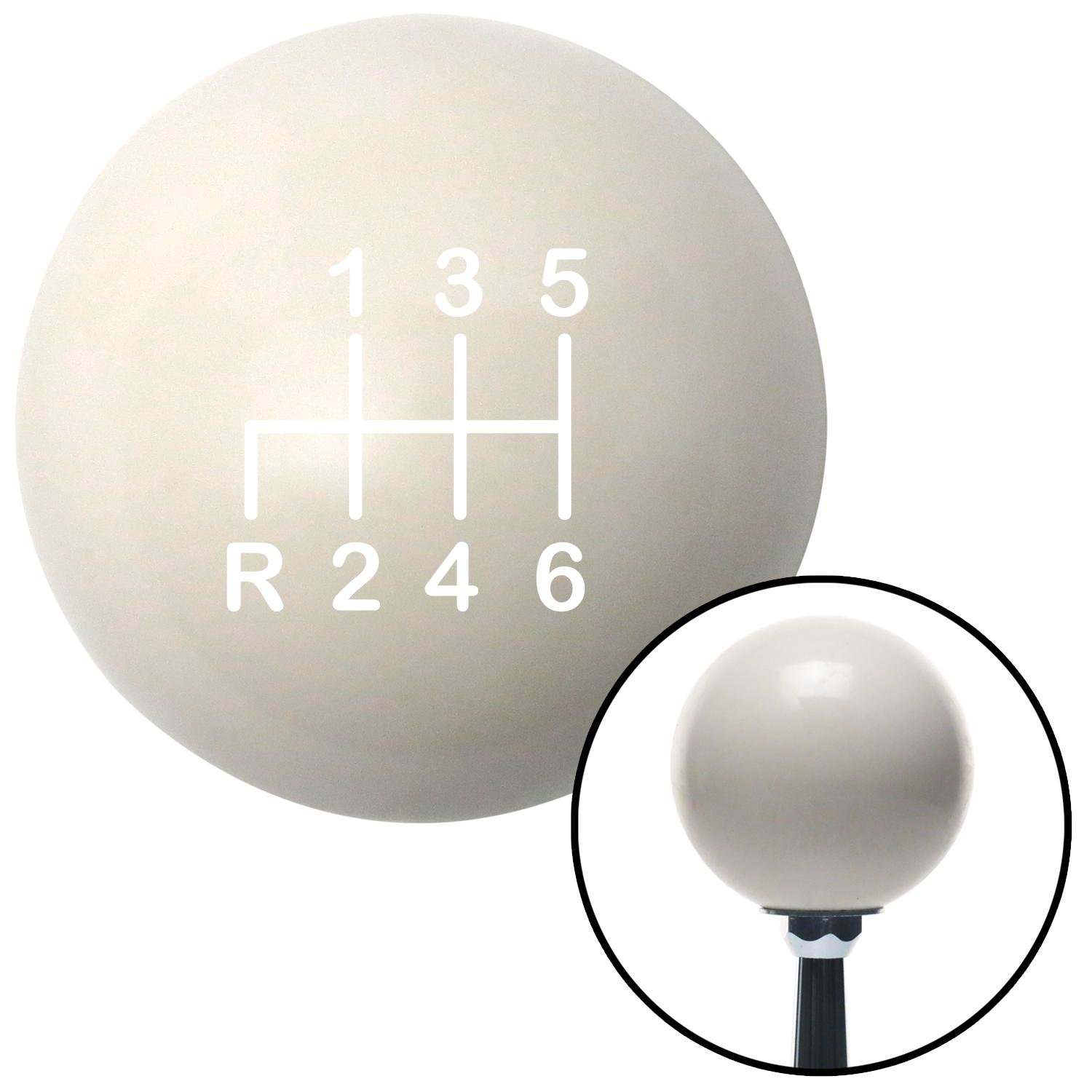 White Shift Pattern 22n American Shifter 76390 Ivory Shift Knob with M16 x 1.5 Insert
