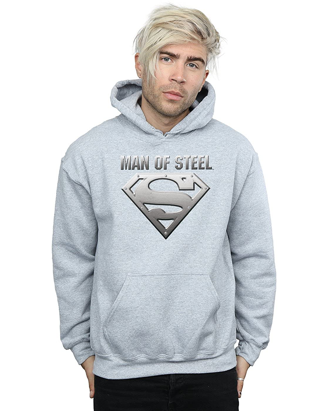 DC Comics Herren Superman Man of Steel Shield Kapuzenpullover