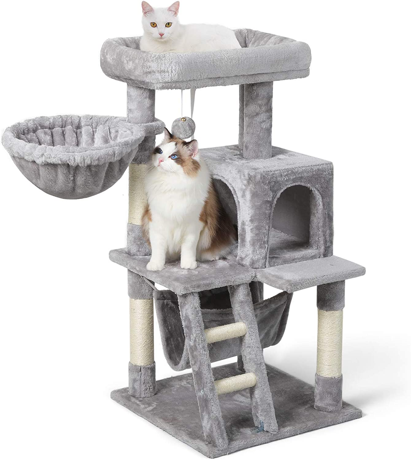 Rabbitgoo Cat Tree 39 Cat Tower For Indoor Cats Multi Level Cat House Condo With Large Perch Scratching Posts Hammock Cat Climbing Stand With Toy For Medium Small Kittens Play