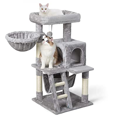 Buy Rabbitgoo Cat Tree 39 Cat Tower For Indoor Cats Multi Level Cat House Condo With Large Perch Scratching Posts Hammock Cat Climbing Stand With Toy For Medium Small Kittens Play Rest