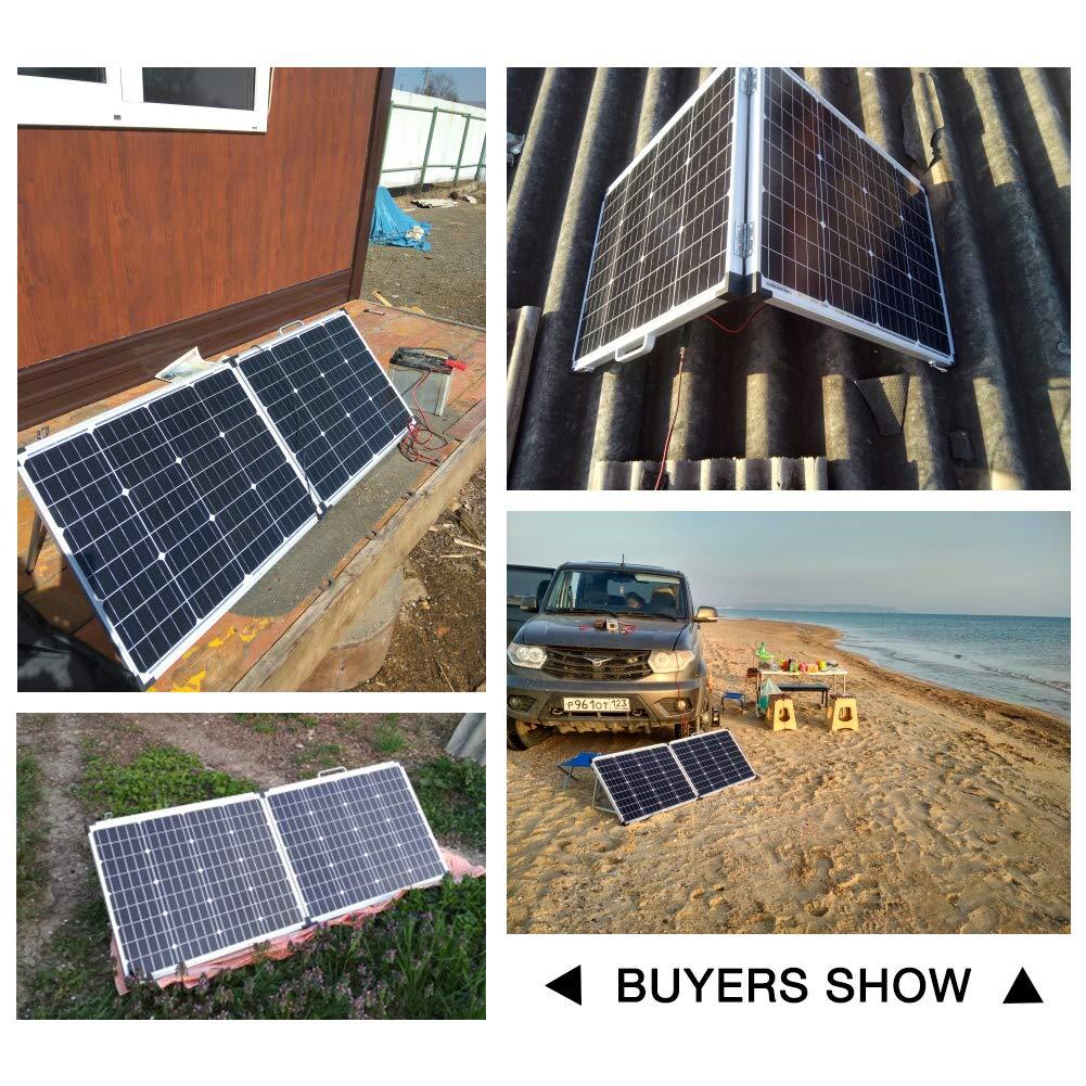 furgoneta sistema solar para el techo de la autocaravana barco RV camping DOKIO 12 V impermeable jard/ín Panel solar de 100 W monocristalino caravana yate cobertizo