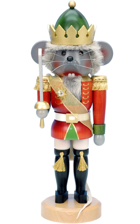 Alexander Taron Importer 32-534 - Christian Ulbricht Nutcracker - Mouse King - 15.5''''H x 6.25''''W x 5.5''''D