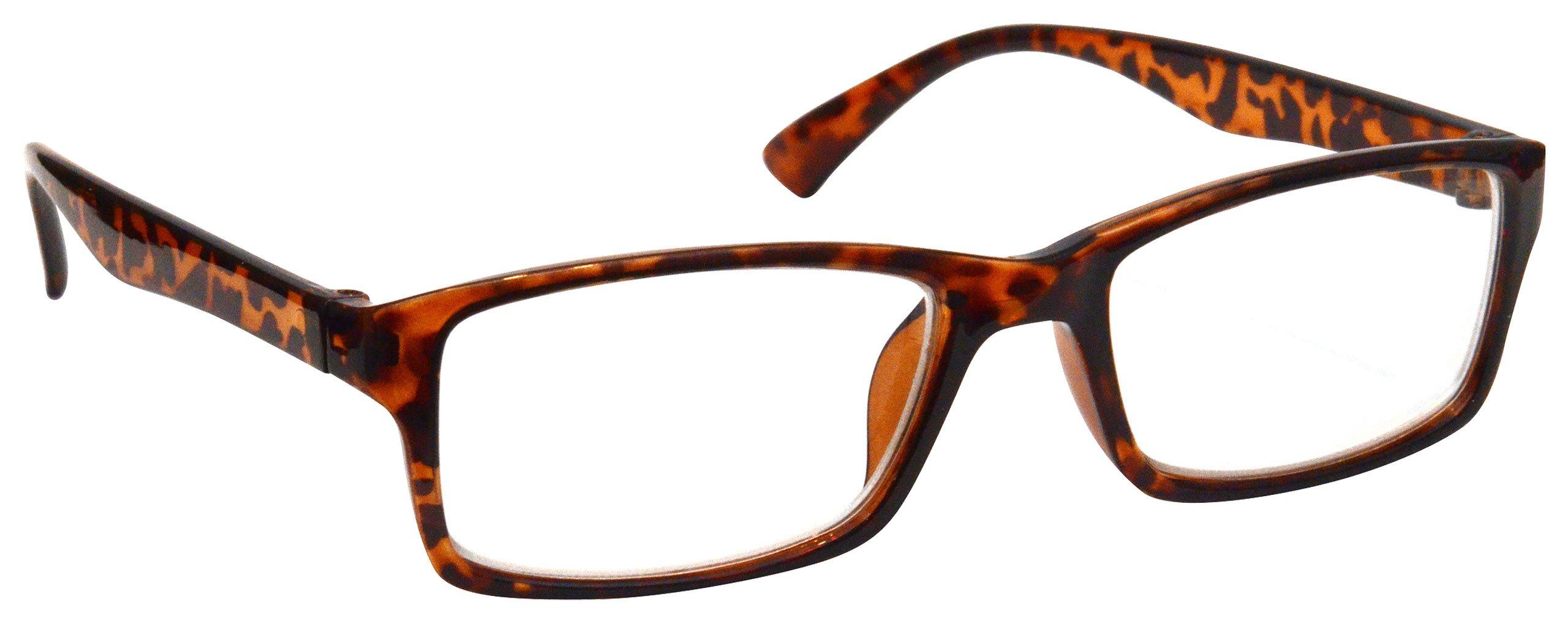 b40d41cb5a Brown Tortoiseshell Near Short Sighted Distance Glasses for Myopia Designer  Style Mens Womens M92-2