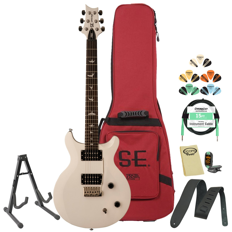 GoDpsMusic csjw-kit-1 PRS SE Carlos Santana Jet blanco guitarra eléctrica con accesorios y Gig Bag: Amazon.es: Instrumentos musicales