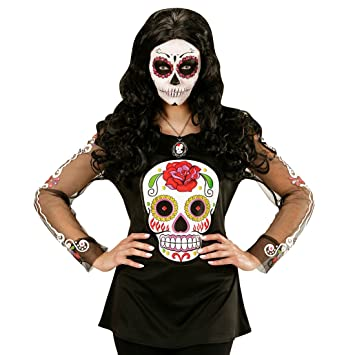 NET TOYS Camisa Sugar Skull Disfraz La Catrina Outfit Mujer ...