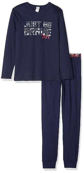 Dim Nuit Pyjama 2 Pièces Garcon, Pijama para Niños, Azul (Navy Blue 49