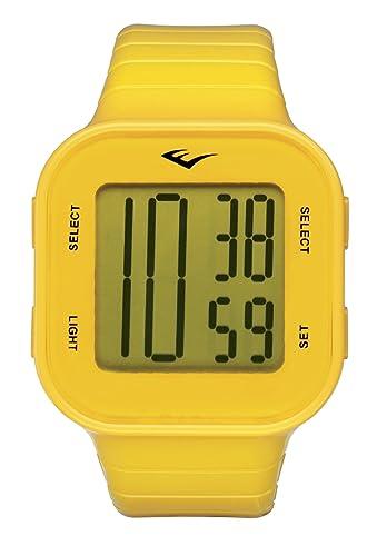 Everlast EV-504-005 - Reloj digital unisex, correa de plástico color amarillo