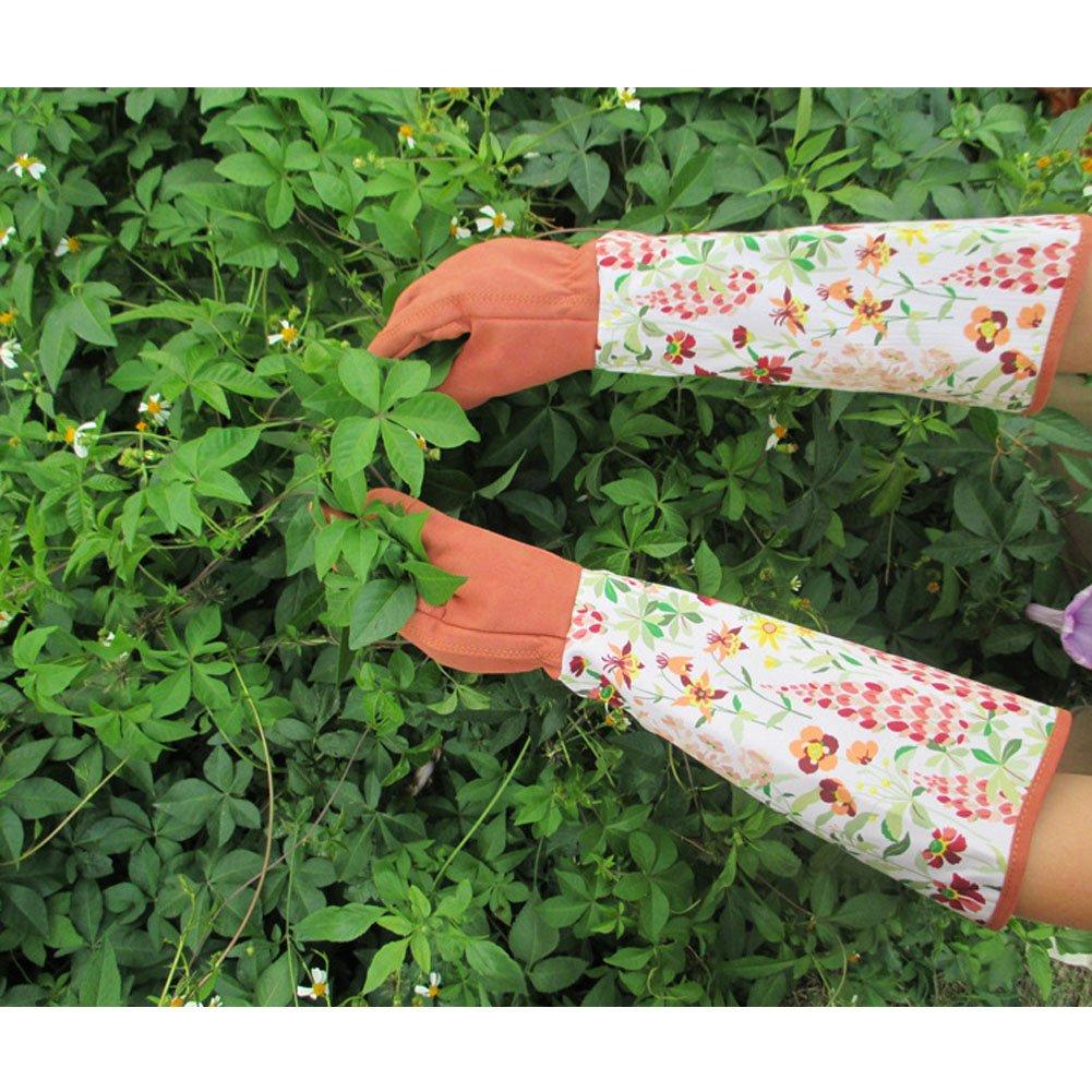 Guantes para jardiner/ía resistentes a los pinchazos para poda cosecha recorte HCT01-U largos hasta el codo tama/ño ampliado para proteger tus brazos
