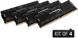 HyperX Predator Black 64GB kit 3200MHz DDR4 CL16 DIMM XMP Desktop PC Memory (HX432C16PB3K4/64)