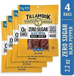 product image for Tillamook Zero Sugar Black Pepper Keto Friendly Beef Jerky 4 Pack, 8.8 oz
