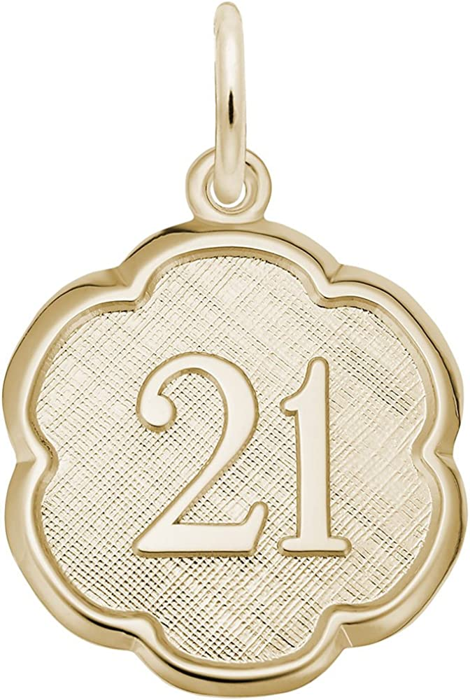Number 21 Charm Charms for Bracelets and Necklaces