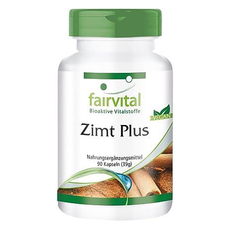 Cinnamon Plus - Bote para 3 meses - VEGANO - Alta dosificación - 90 cápsulas -