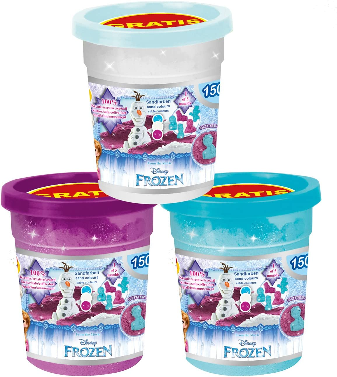 Craze Pony Magic Sand Unicorn Refill Can 450 g Glitzersand mit F/örmchen Nachf/üllpack 3er Set Einhorn 14332 schimmernd