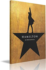 "Hamilton The Musical Canvas Wall Art Prints Giclee Painting For Wall Decor 8"" X 12"""