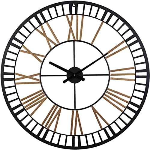Large Wall Clocks – Big Oversized Round Silent Battery Operated Metal Clock for Home Living Room Kitchen, 32 inches