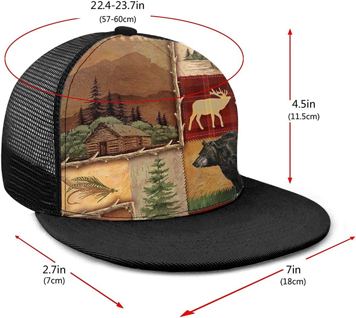 Cool Trucker Mesh Cap for Unisex Boys and Girls 100/% Polyester Villages and Bear Mesh Hat