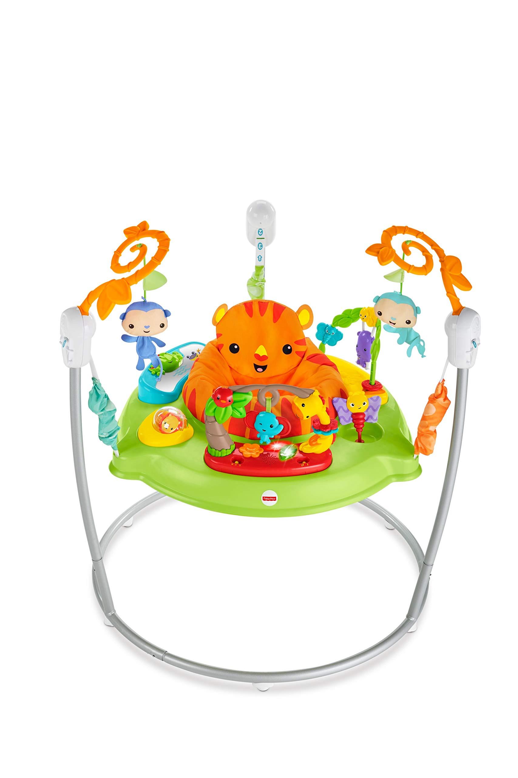 Fisher-Price Jumperoo Jungle Trotteur Bébé avec Lumières, Sons et Musiques, Siège Tournant à 360°, Stimule les Sens, 9 Mois et Plus, CHM91 product image