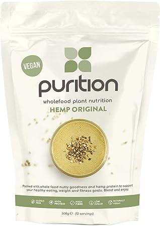 Purition Batido de proteínas Crudivegano (500g). Batido para el desayuno sin lácteos