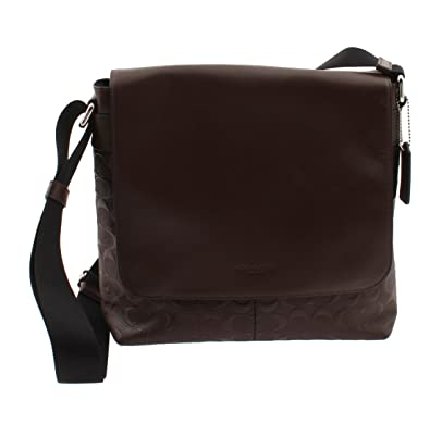 Coach Charles Small Messenger In Signature Crossgrain Leather, F72220  (Mahogany) 9fc495fc12