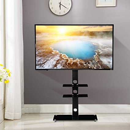 Amazoncom Mecor Tv Stand With Mount Tv Floor Stand For 32374347