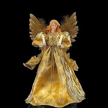 Amazon.de: 35, 6 cm beleuchteter Opulente Golden Christbaumspitze ...