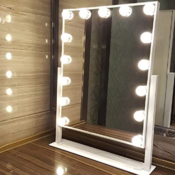 Amazoncom Dowry 15 Led Bulbs Hollywood Vanity Makeup Mirror With
