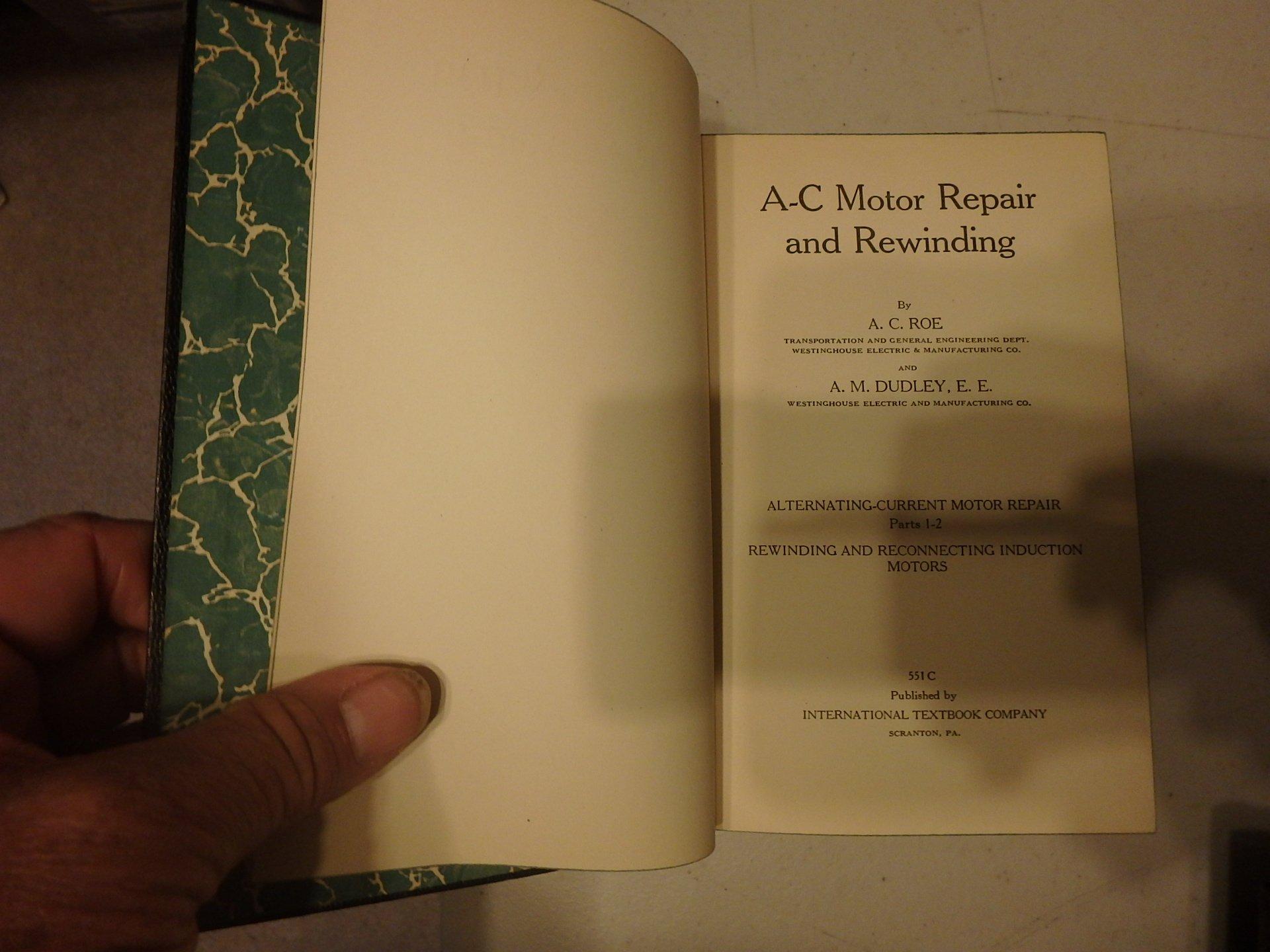 A-C Motor Repair and Rewinding: Alternating-Current Motor Repair ...