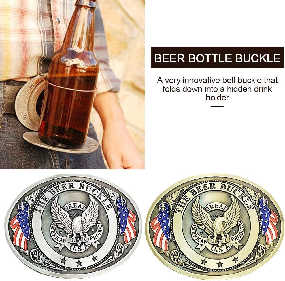 4x3.14 DEQUATE Outdoor Bottle G/ürtelschnalle Fun Innovative Metallschnalle Camping Picknick Flaschenhalter