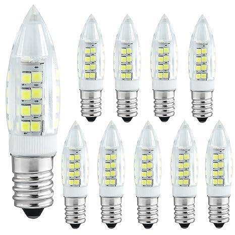 Liqoo® 10x E14 5W Bombilla LED Lámpara Blanco Frío 6000K Bajo Consumo Ahorra 90%