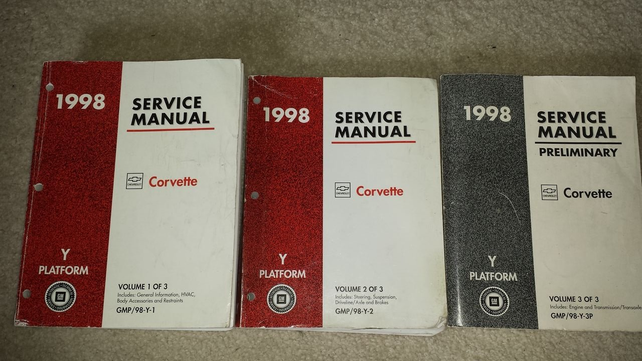 1998 Chevrolet Chevy Corvette Service Shop Manual (3 Volume Set): General  Motors Corporation: Amazon.com: Books