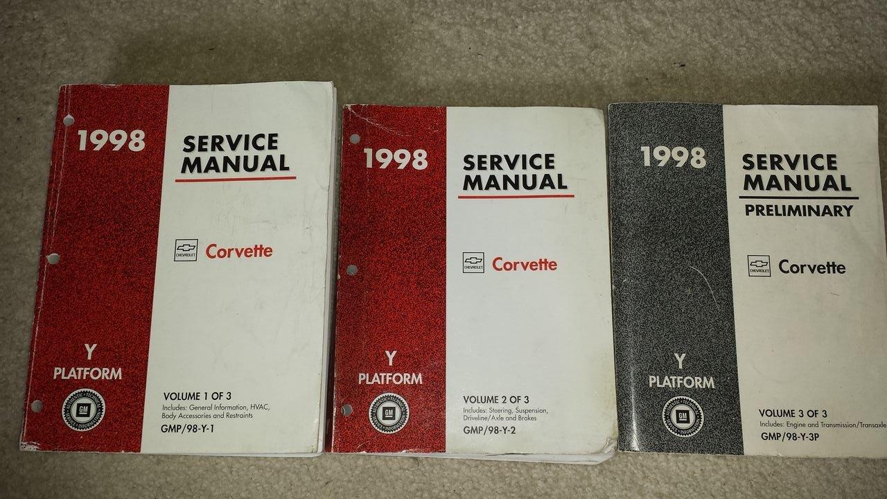 1998 Chevrolet Chevy Corvette Service Shop Manual (3 Volume Set): General  Motors Corporation: Amazon.com: Books
