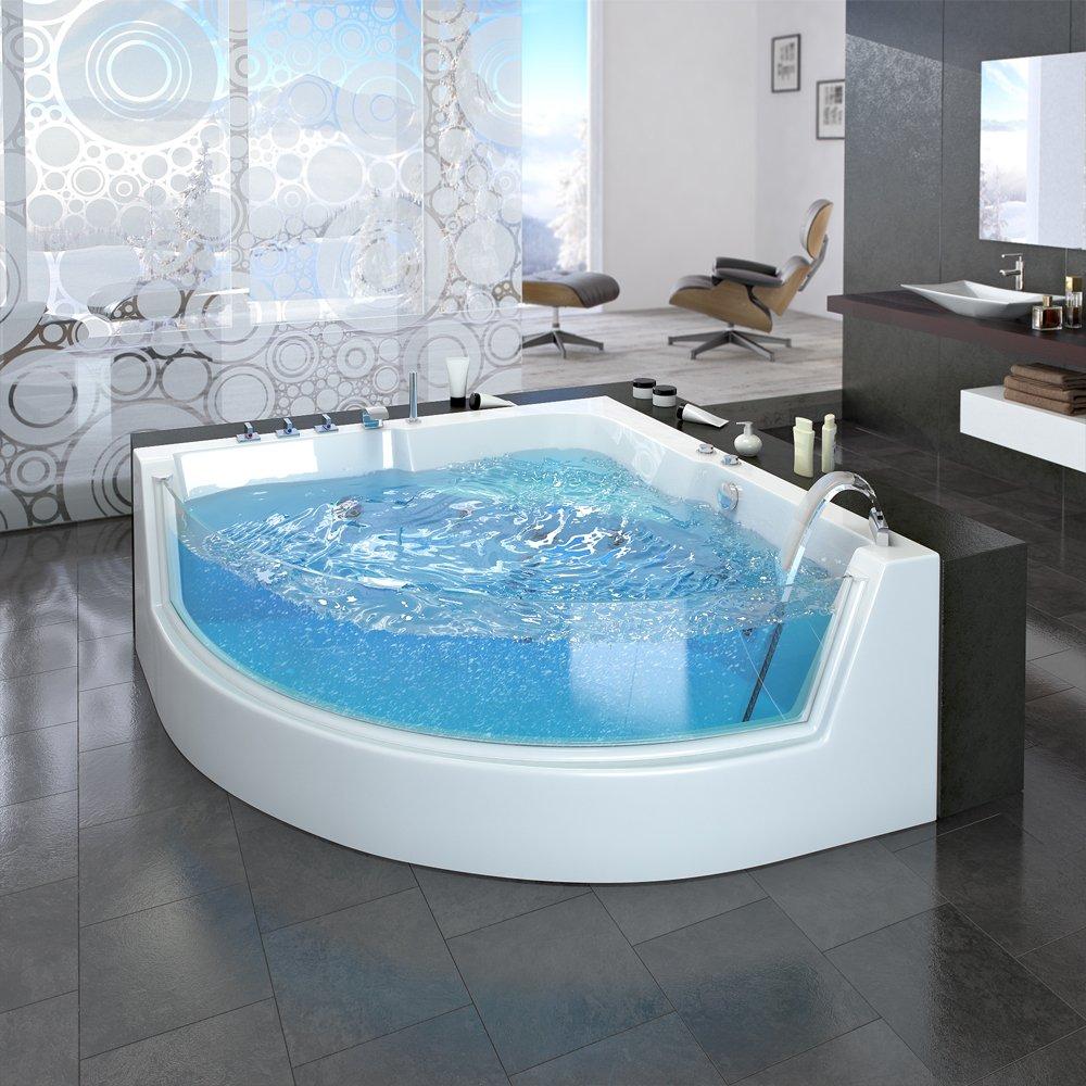 Whirlpool indoor 2 personen  Whirlpool Eckbadewanne Badewanne Wanne 2 Personen Heizung Pool ...