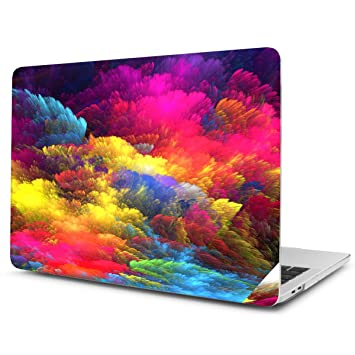 TwoL Funda MacBook Pro 15 2016 2017 2018, Funda Dura Carcasa para MacBook Pro 15 Touch Bar A1707/A1990 Nube Colores