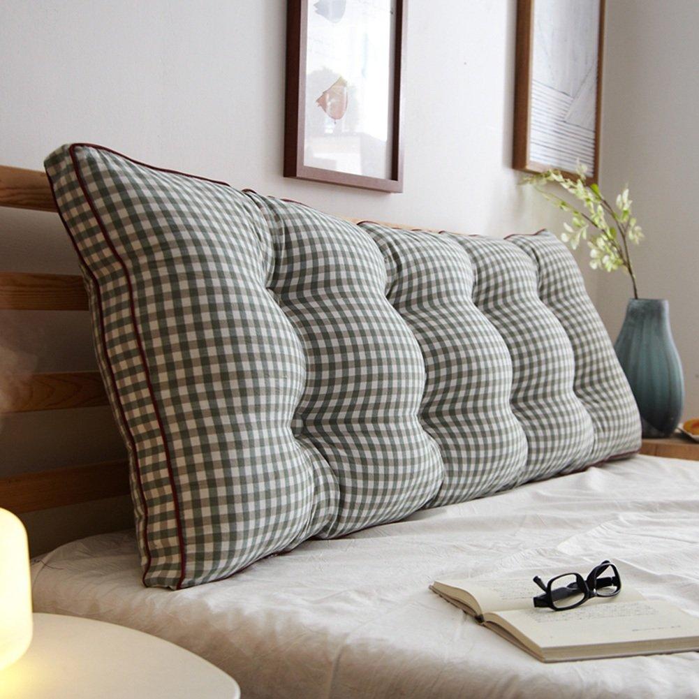7 180×20×50cm RFJJAL Double Bedside Triangle Cushion Pillow Sofa Backrest Soft Case Bedroom Large Back Cushion Predect The Waist Removable,7 colors, 8 Sizes (color   7, Size   180×20×50cm)