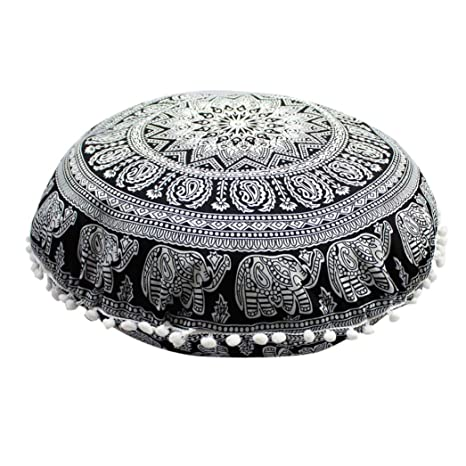 Funda Cojines, Xinan Cojines redondos de Bohemian Cushion Indian Mandala Floor Pillows 43 * 43cm (J)