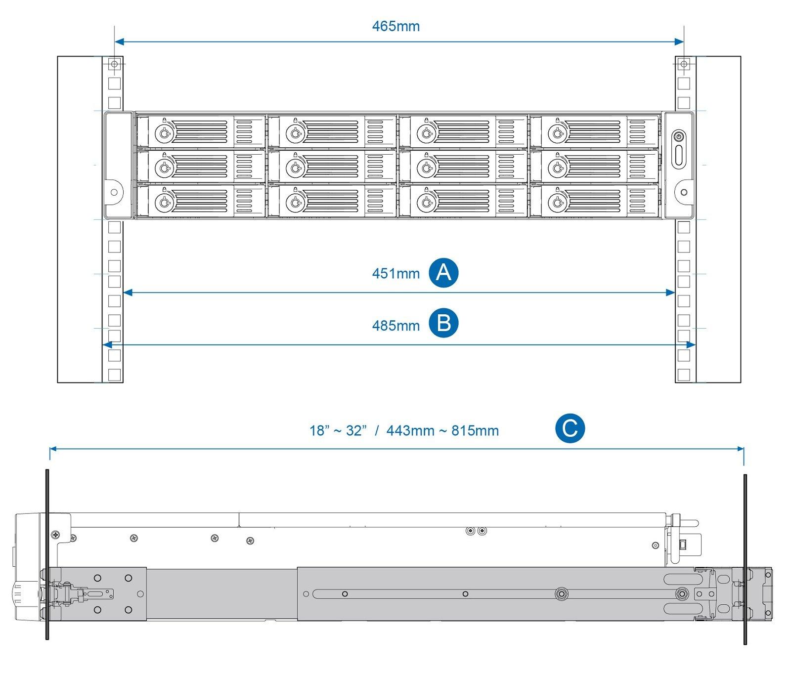 QNAP Qnap 2U Rail Kit (RAIL-B02) by QNAP