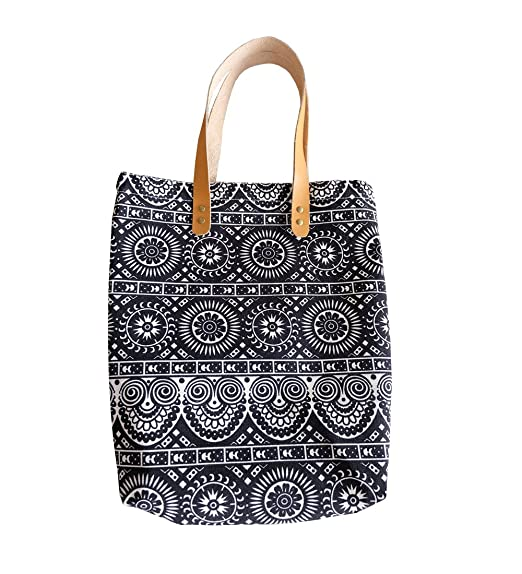 2f7b16ee658 Amazon.com: Teemixed Canvas tote bag with faux leather handle-019 ...