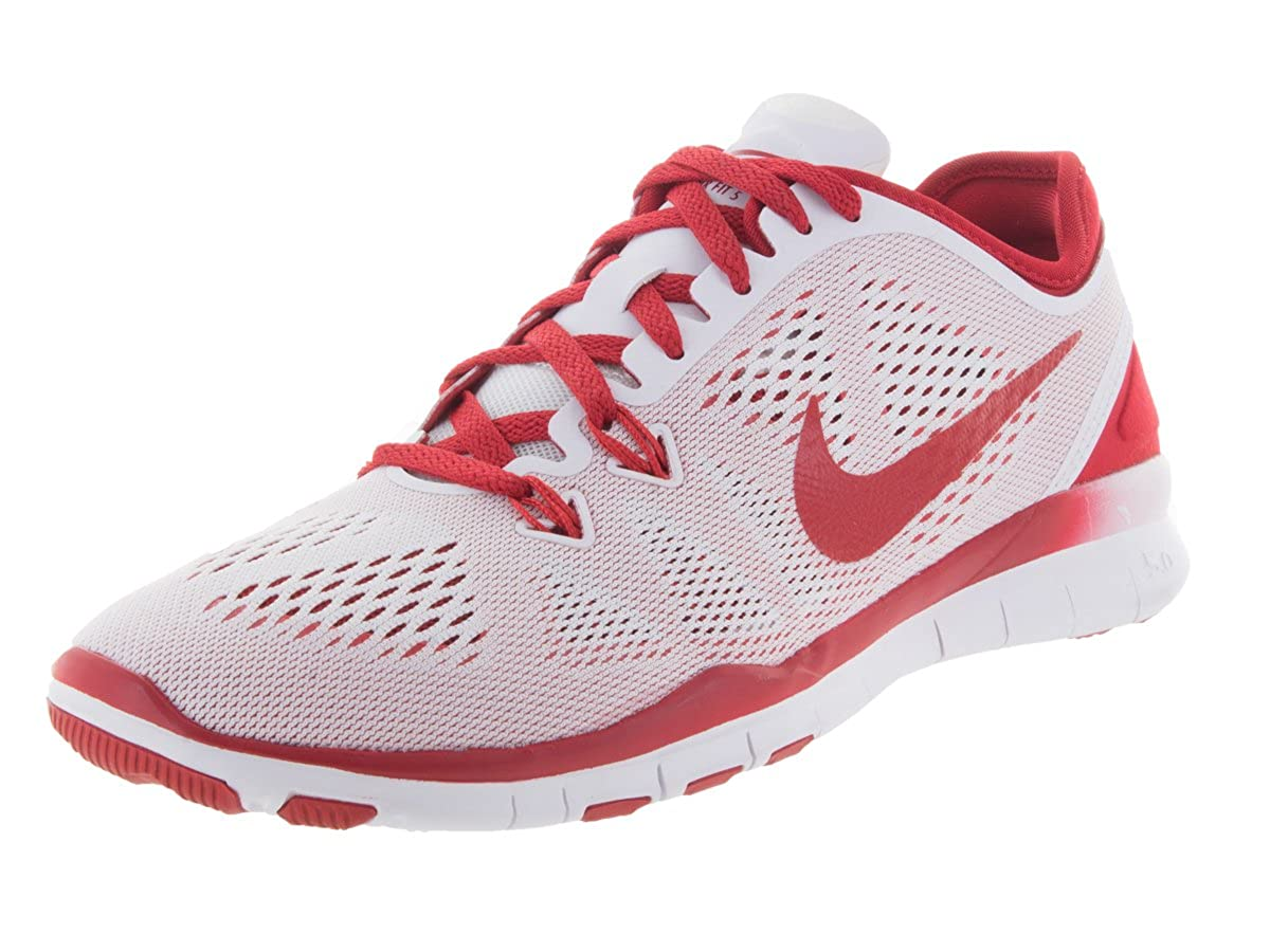 online store 32ac2 df2e4 Nike Women's Free Trainer 5.0 (6.5 B(M) US, White/Sport Red)
