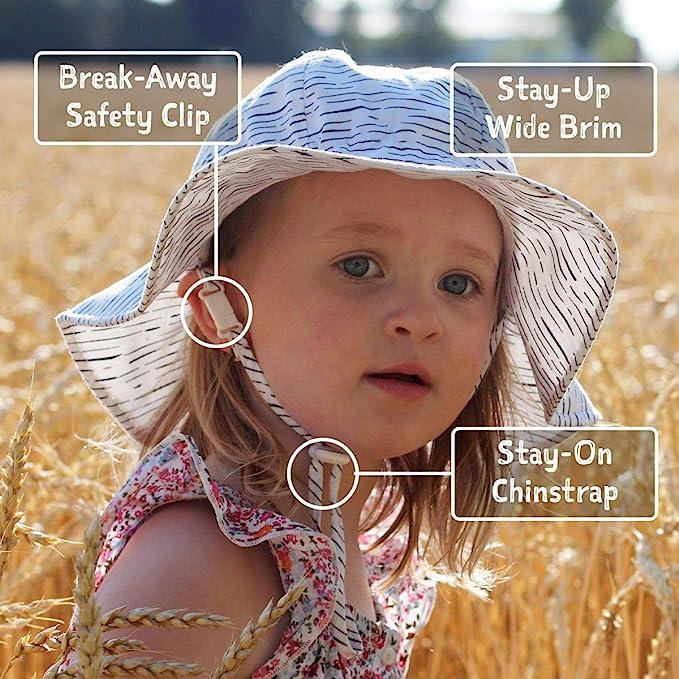 UPF 50 Jan /& Jul Toddler Sun-Hats for Girls Adjustable L: 2-5 Years, Cherries UV Protection