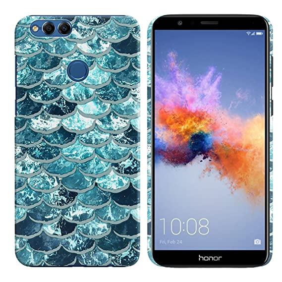 pretty nice dda48 cc4b6 FINCIBO Case Compatible with Huawei Honor 7X, Back Cover Hard Plastic  Protector Case Stylish Design for Huawei Honor 7X / Mate SE 5.93 inch -  Mermaid ...