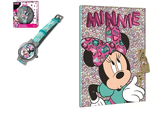 Mgs33 Pack, Set Black Friday, Noel, Minnie, Disney: 1 Jolie Reloj analógica + Sonido Diario: Amazon.es: Relojes