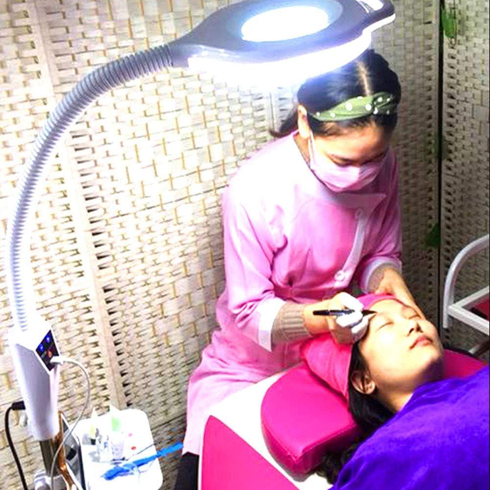 FXJIAO Lampe De Beaut/é LED Esth/étique sur Pied Lampe Loupe 35W LED avec Bras R/églable Pivotant Lampe De Beaut/é avec /Éclairage pour Salon De Beaut/é Cliniques Tatouage