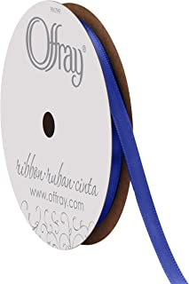 "product image for Offray Singleface Satin 1/4"" 20 yd Royal Ribbon, 1/4 Inch x 20 Yard"
