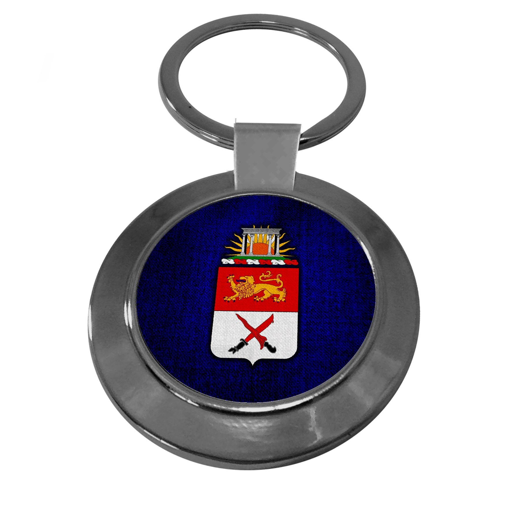 Premium Key Ring with U.S. Army 15th Cavalry Regiment, coat of arms