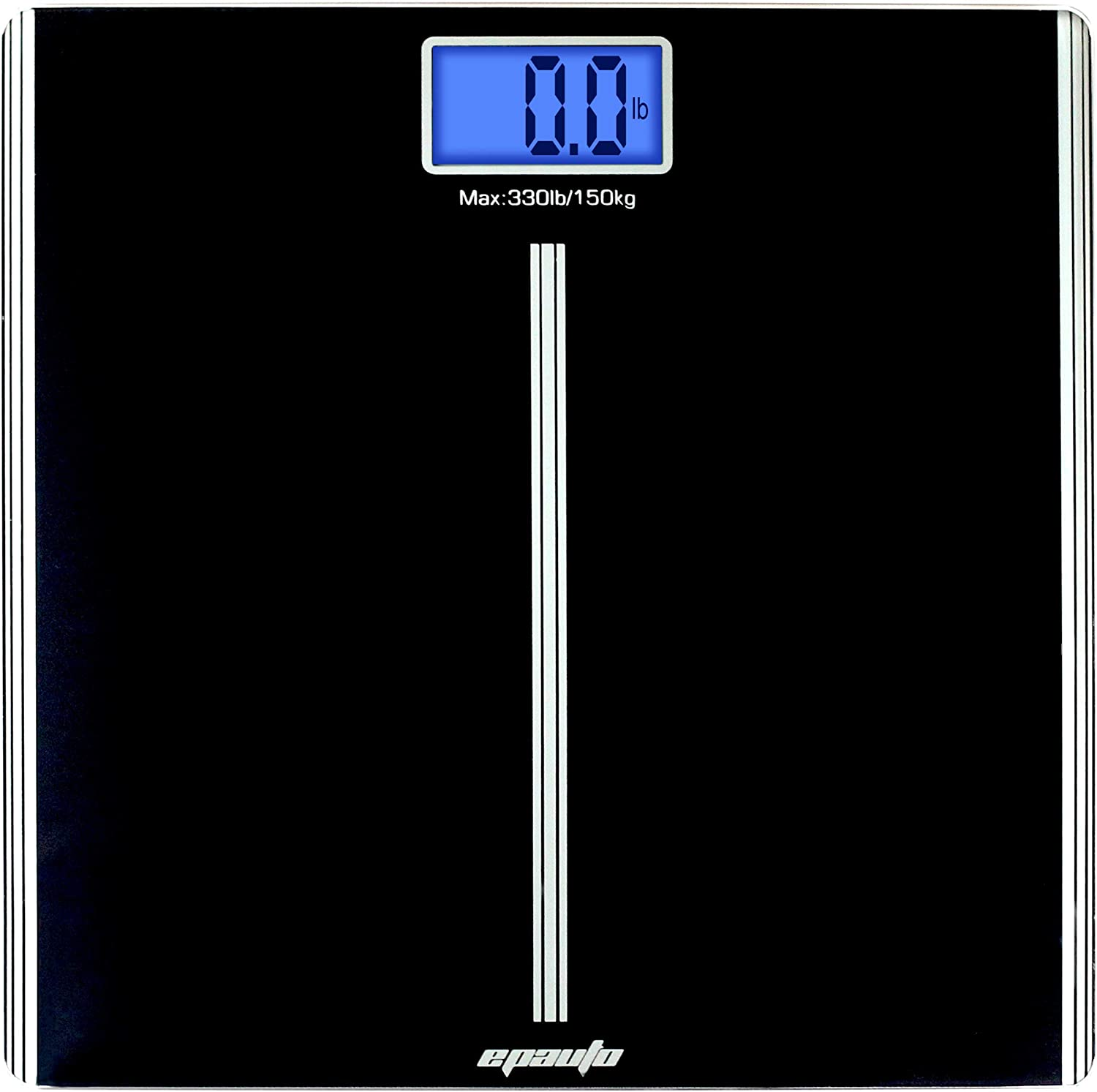 EPAuto Precision Digital Bathroom Body Weight Scale, Black
