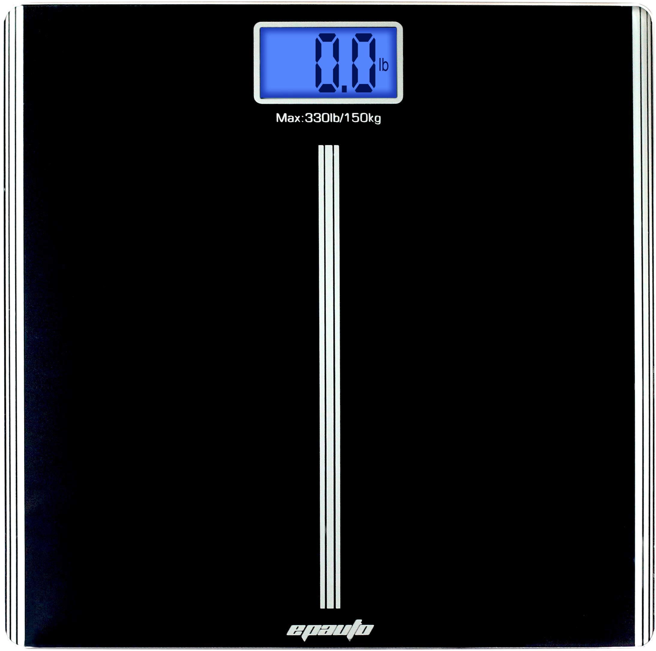 EPAuto Precision Digital Bathroom Body Weight Scale, Black by EPAuto